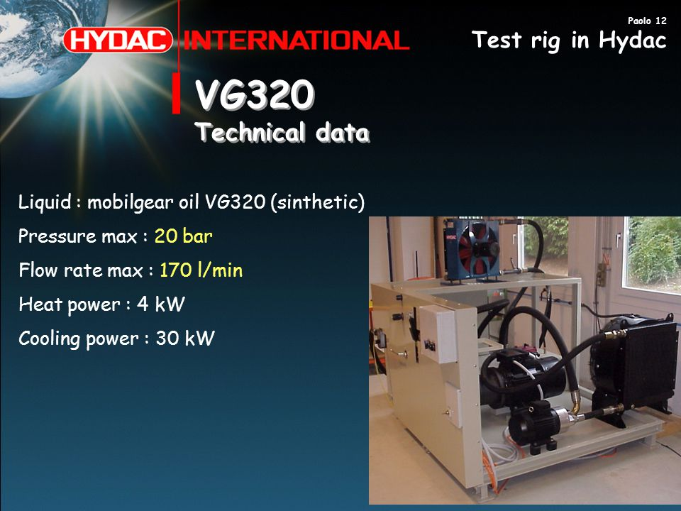 Rd department test rig in hydac sa ppt video online download vg320 technical data test rig in hydac sciox Images