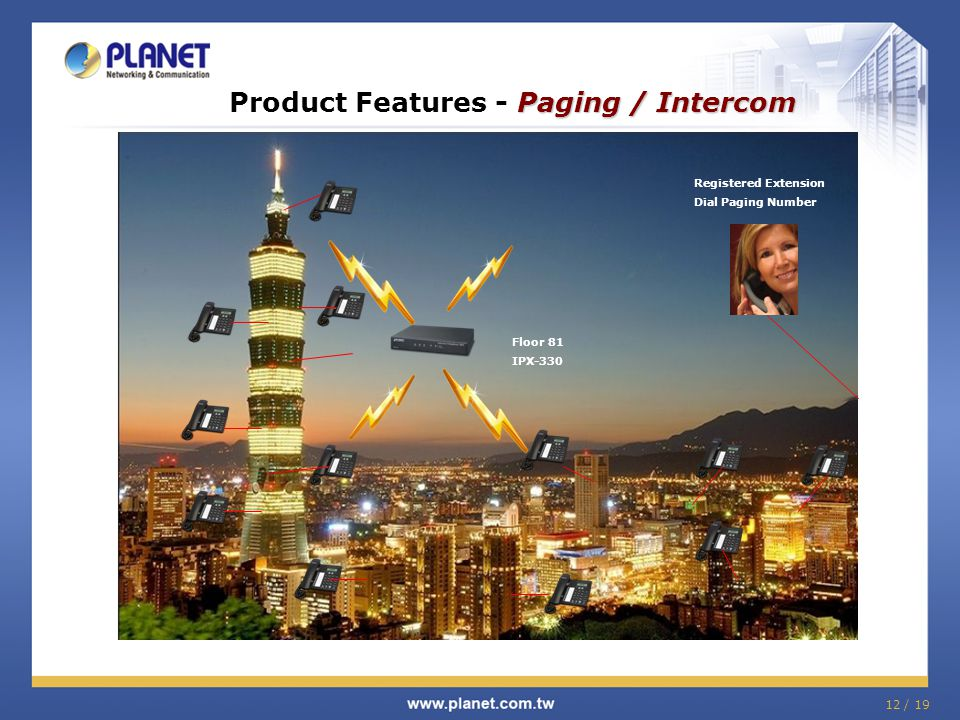 Product Features - Paging / Intercom