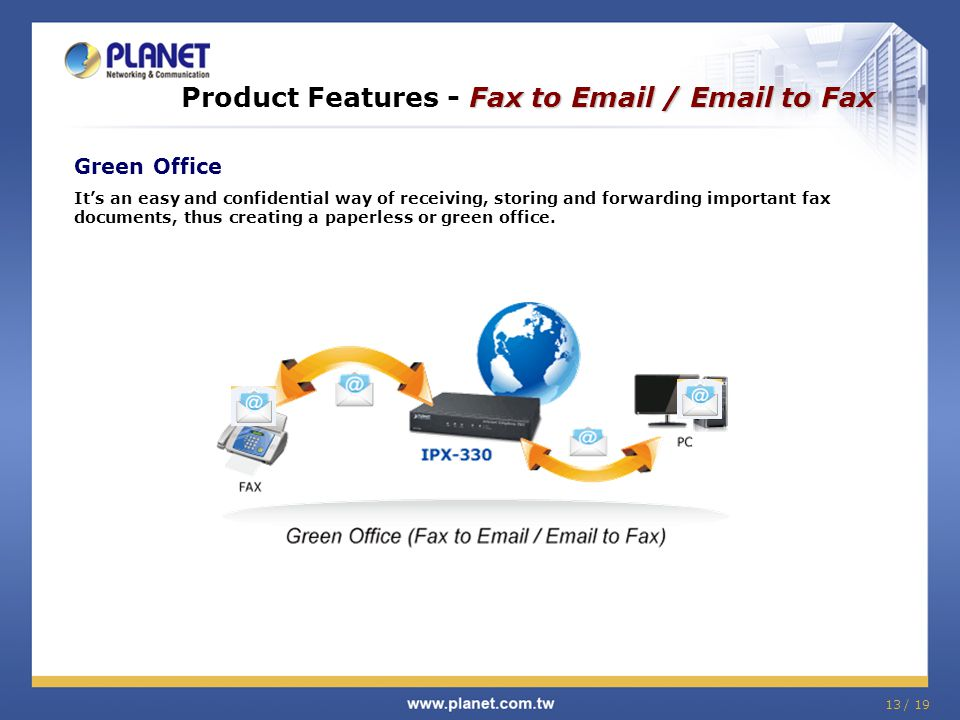 Product Features - Fax to Email / Email to Fax