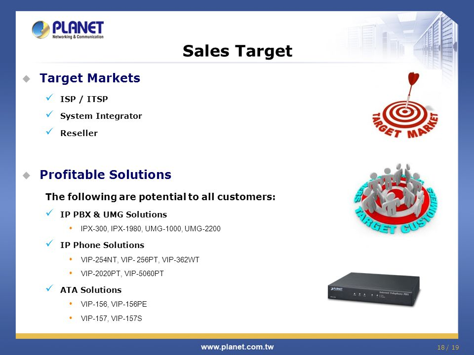 Sales Target Target Markets Profitable Solutions