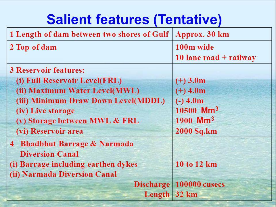 Salient features (Tentative)