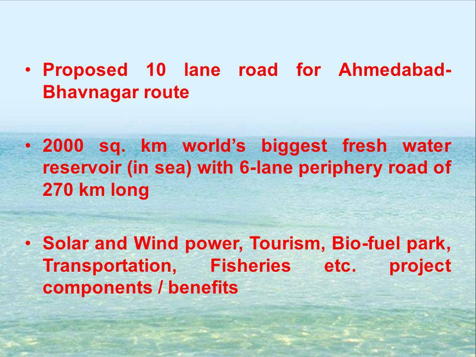 Proposed 10 lane road for Ahmedabad-Bhavnagar route