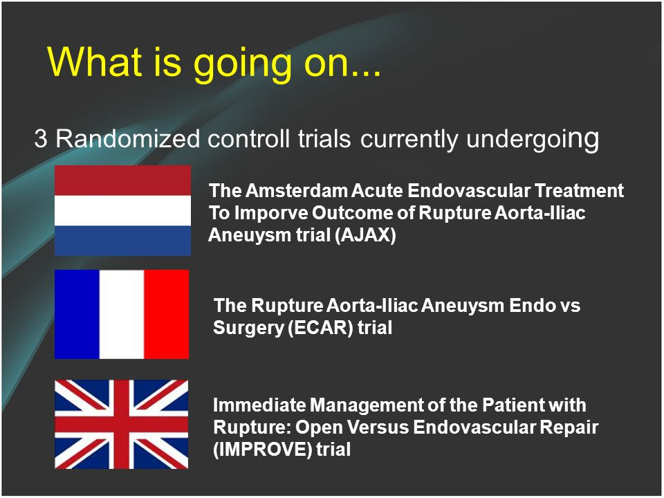 What is going on... 3 Randomized controll trials currently undergoing