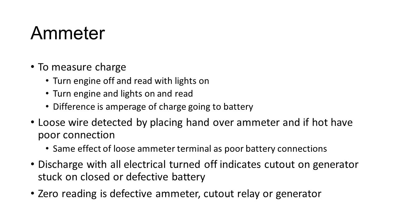 Ammeter To measure charge