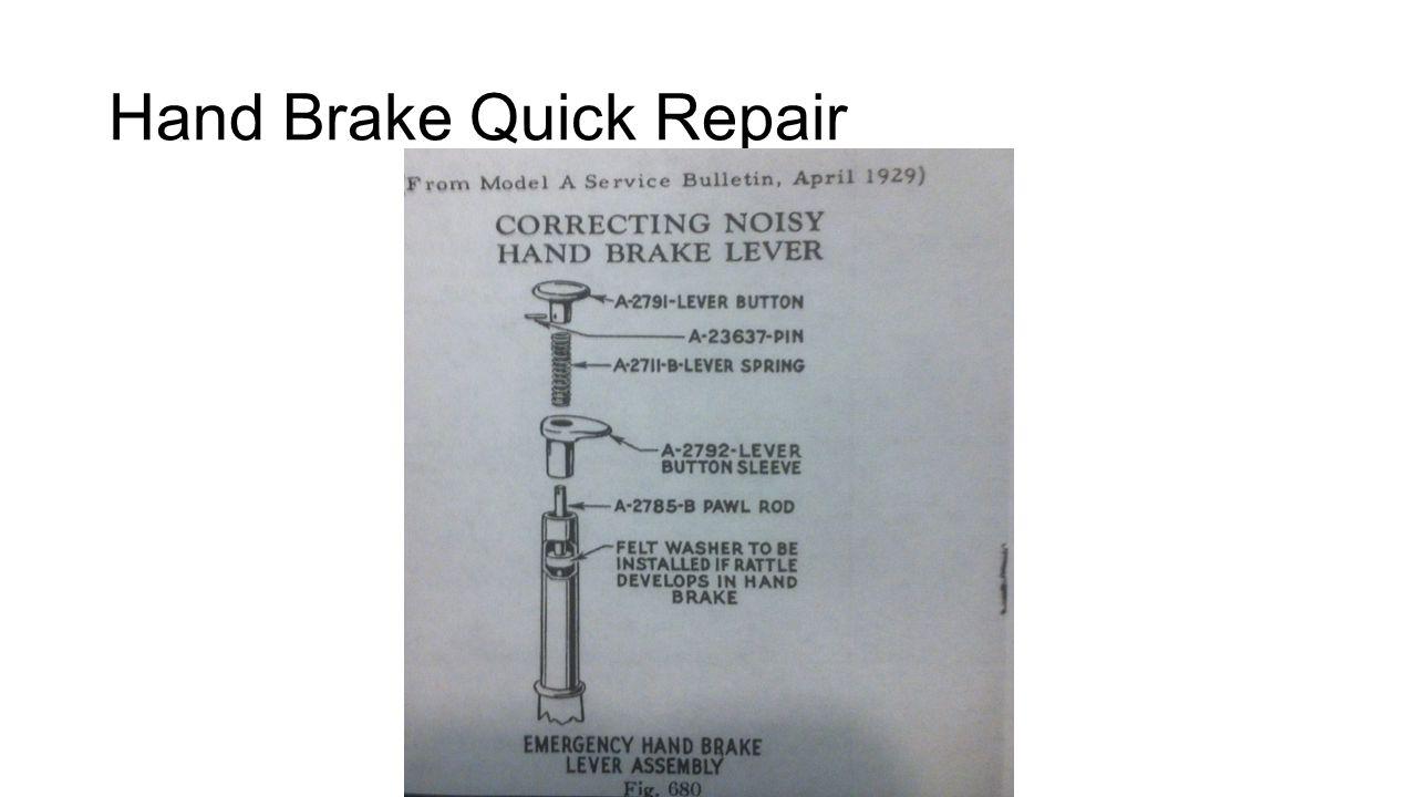 Hand Brake Quick Repair