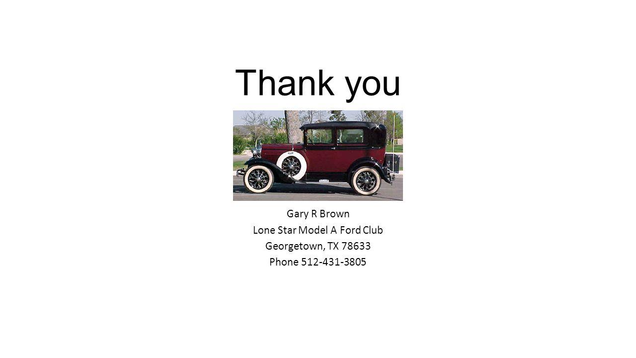 Lone Star Model A Ford Club