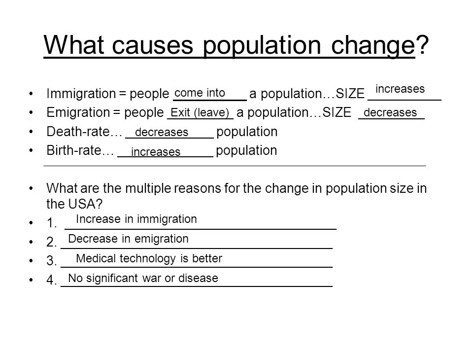 What causes population change