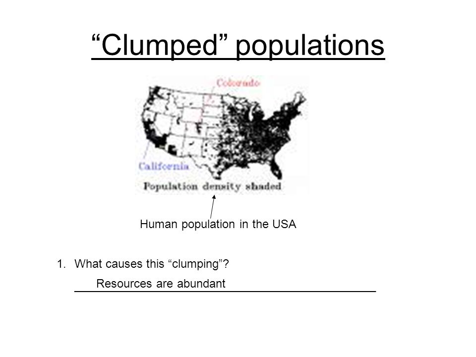 Clumped populations