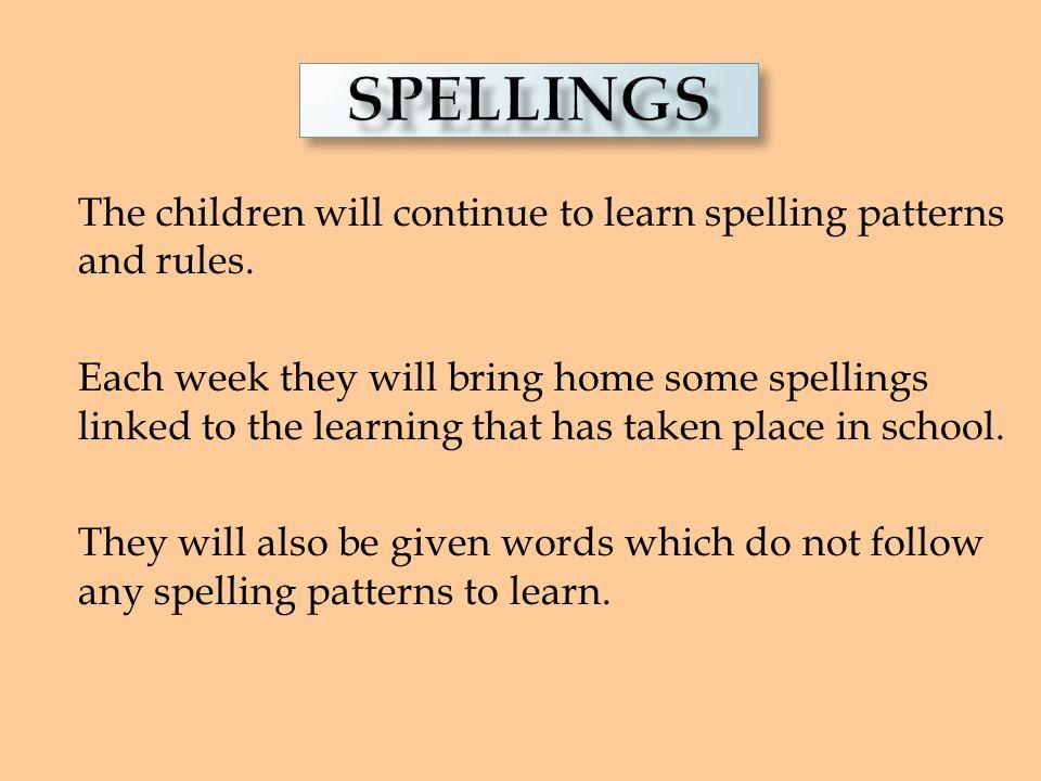 READING Spellings.