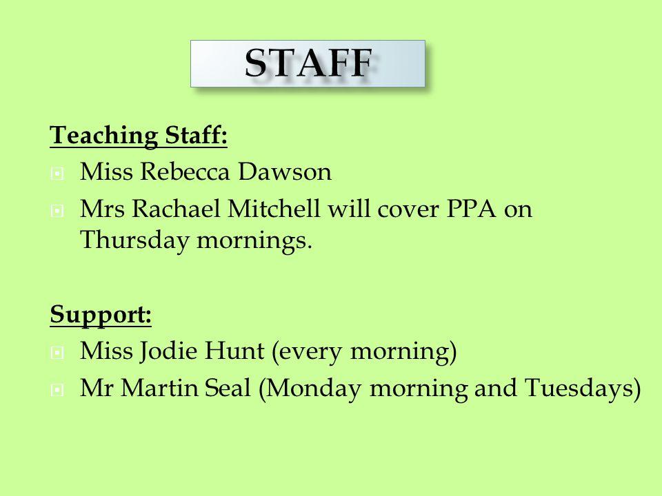 STAFF Staff Teaching Staff: Miss Rebecca Dawson