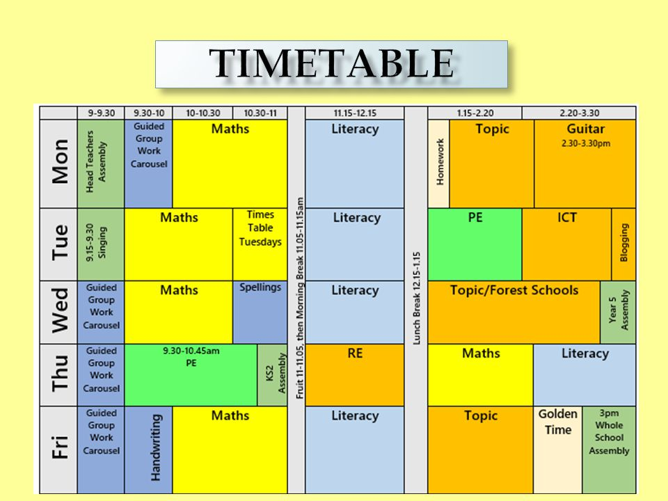 TIMETABLE TIMETABLE
