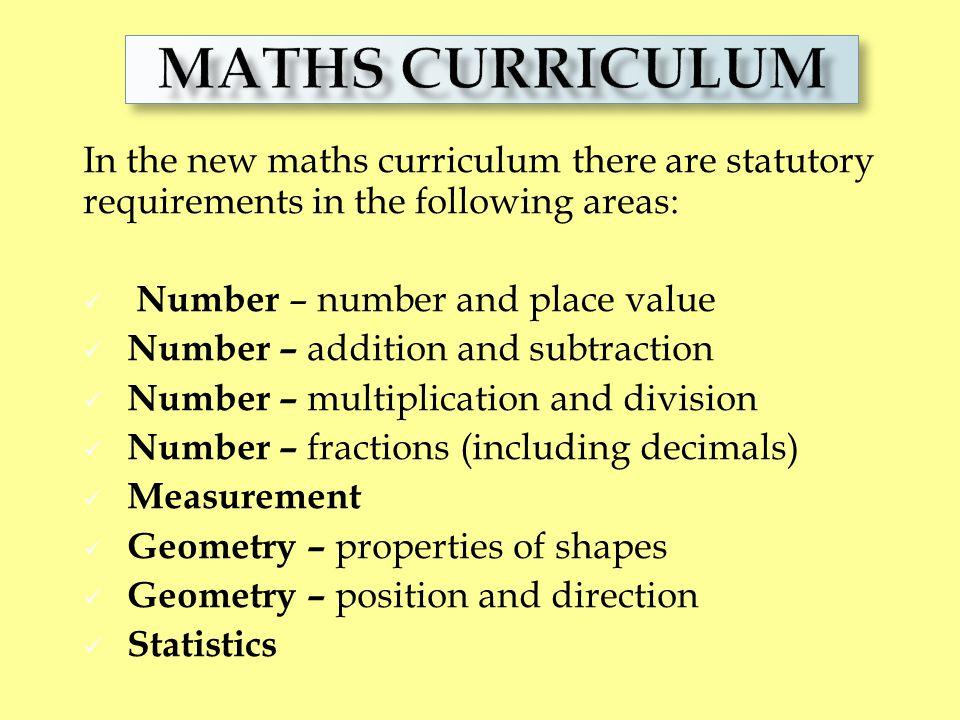 MATHS CURRICULUM Numeracy Curriculum