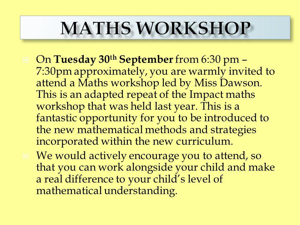 Maths workshop