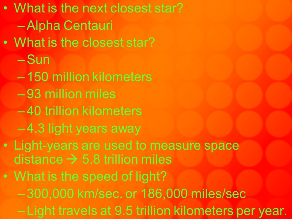What is the next closest star