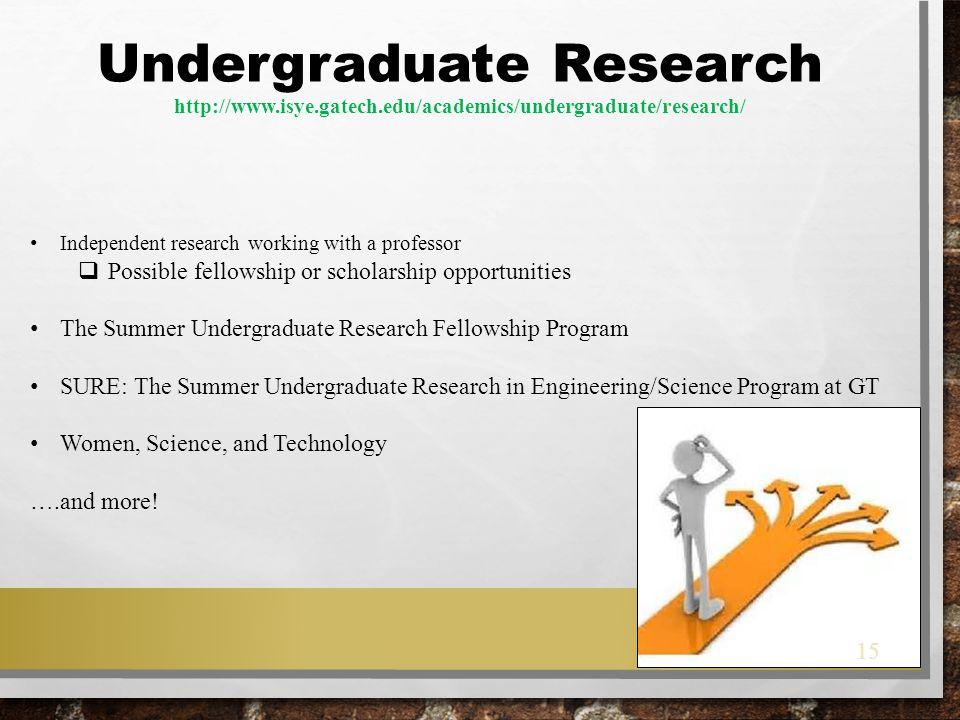 Undergraduate Research http://www. isye. gatech
