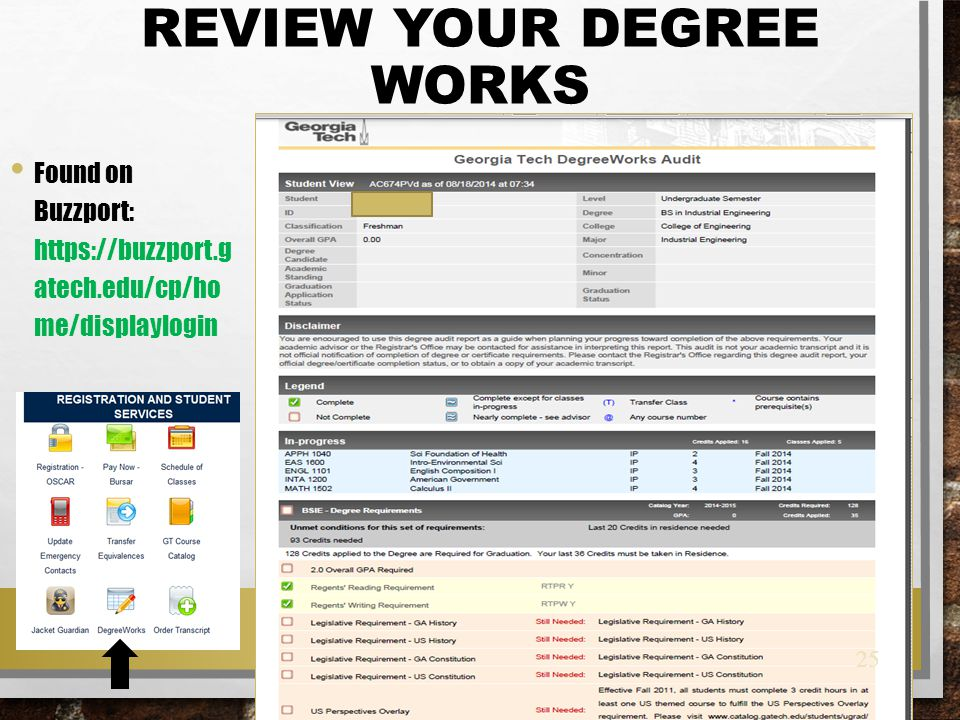 Review your Degree Works