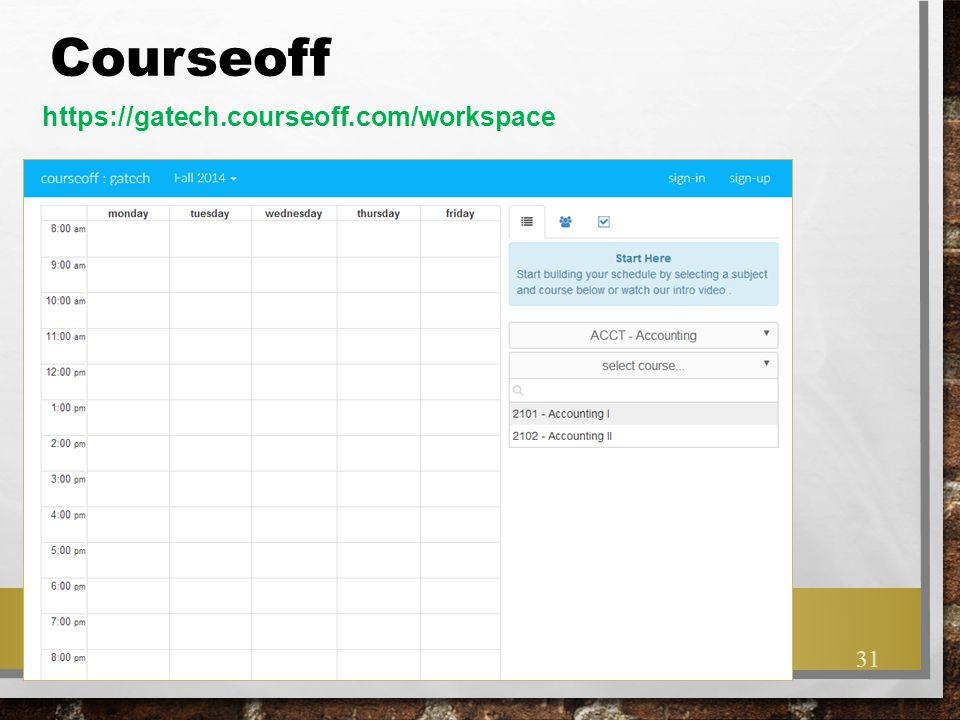 Courseoff https://gatech.courseoff.com/workspace