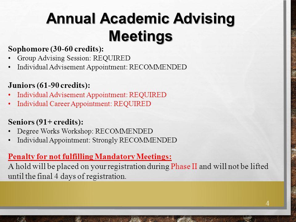 Annual Academic Advising Meetings
