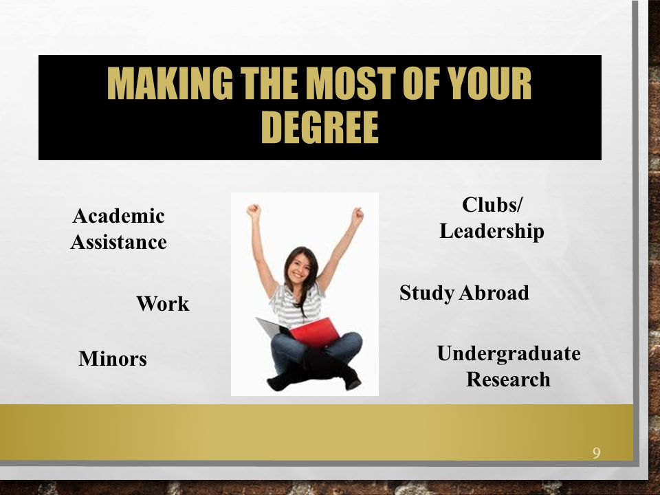 Making the most of your degree