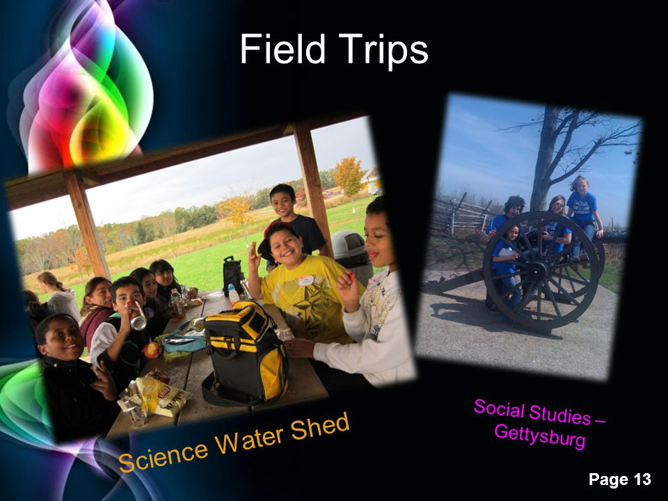 Field Trips Social Studies – Gettysburg Science Water Shed