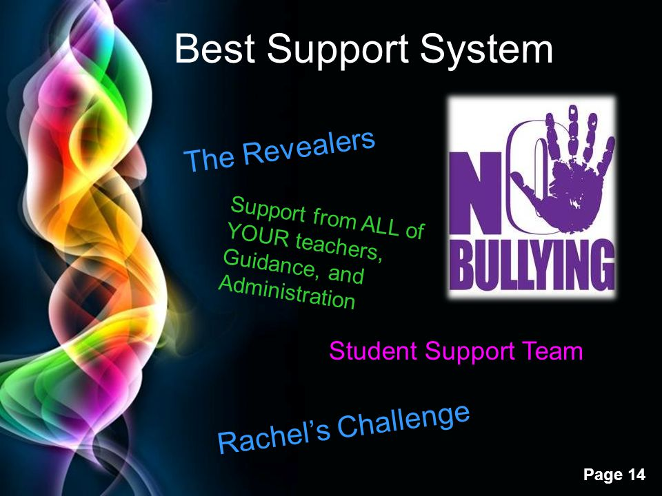 Best Support System The Revealers Rachel's Challenge