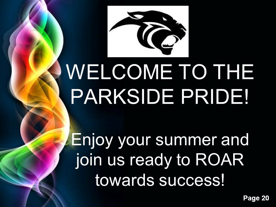 WELCOME TO THE PARKSIDE PRIDE