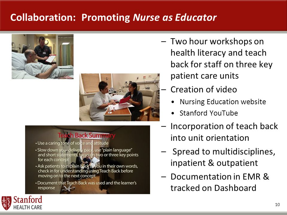 Collaboration: Promoting Nurse as Educator
