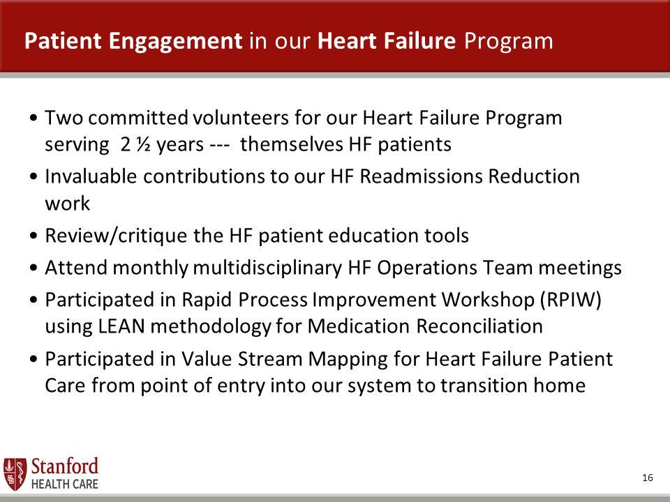 Patient Engagement in our Heart Failure Program