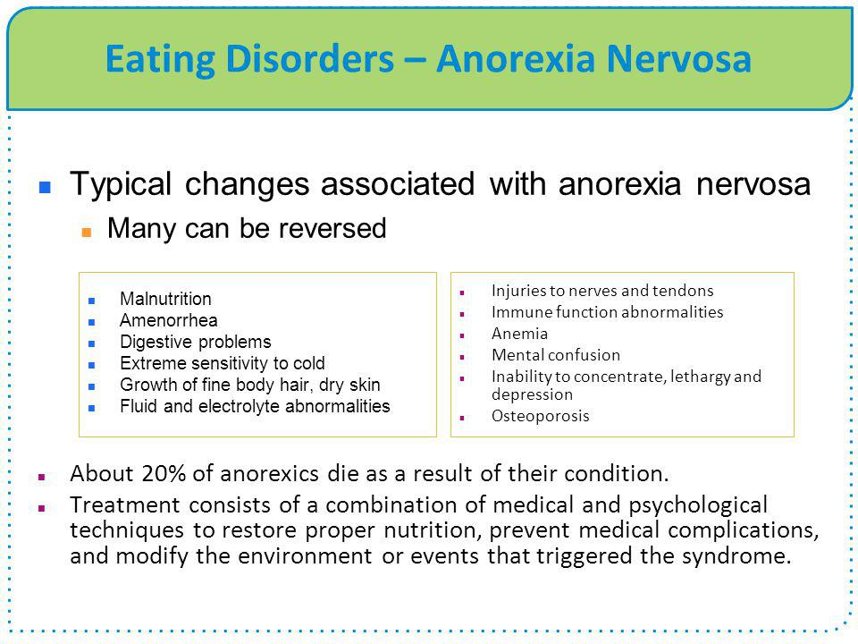Eating Disorders – Anorexia Nervosa