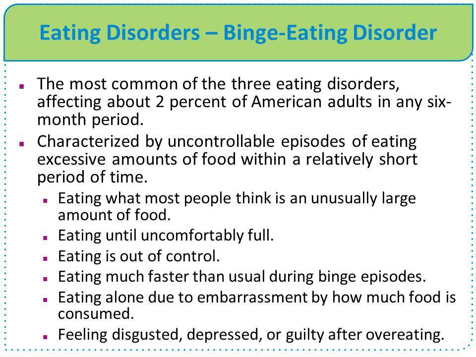 Eating Disorders – Binge-Eating Disorder