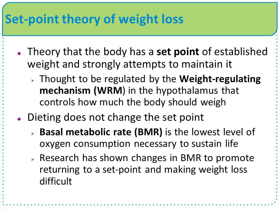 Set-point theory of weight loss