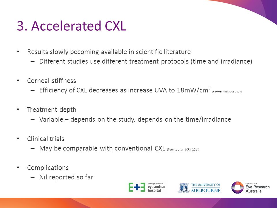 3. Accelerated CXL Results slowly becoming available in scientific literature.