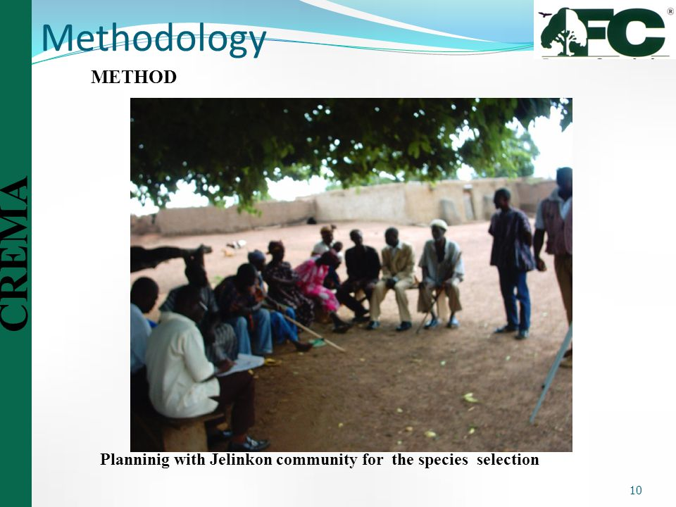 Methodology METHOD Planninig with Jelinkon community for the species selection