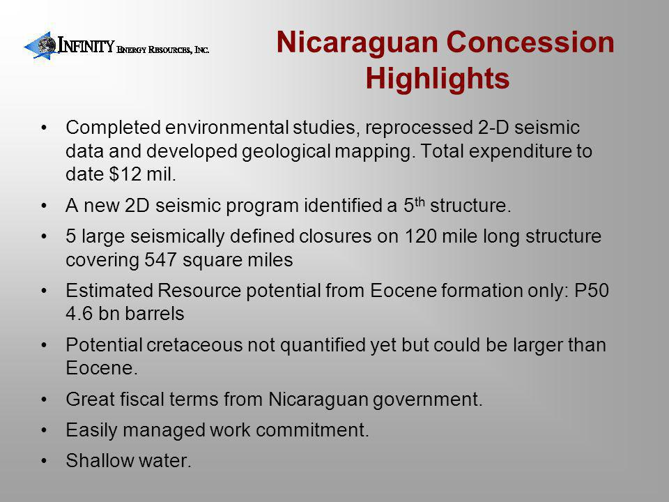 Nicaraguan Concession Highlights