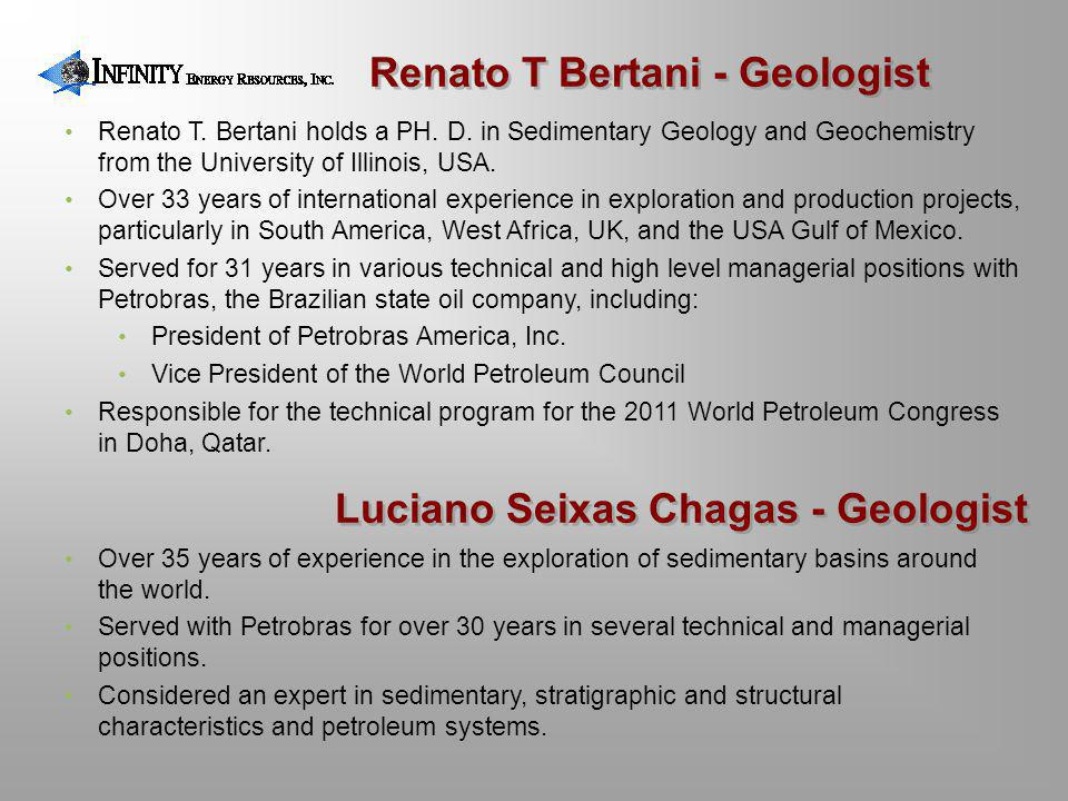 Renato T Bertani - Geologist Luciano Seixas Chagas - Geologist