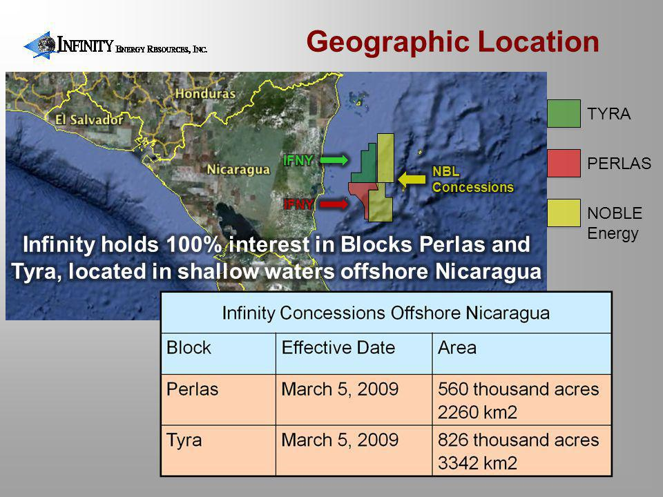 Geographic Location TYRA. IFNY. PERLAS. NBL Concessions. IFNY. NOBLE. Energy.