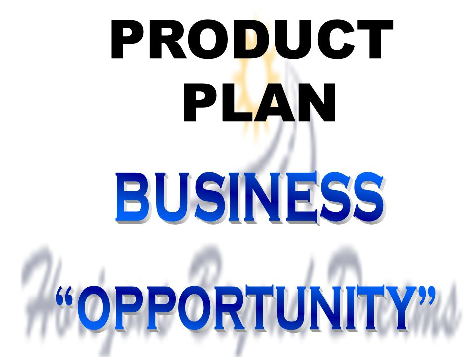 PRODUCT PLAN BUSINESS OPPORTUNITY
