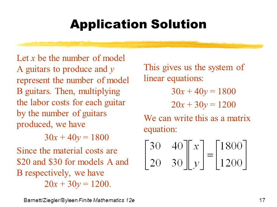 Application Solution