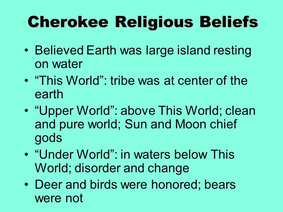 Cherokee Religious Beliefs