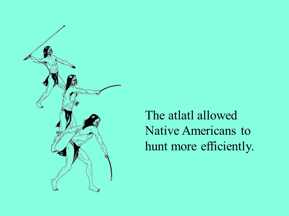 The atlatl allowed Native Americans to hunt more efficiently.