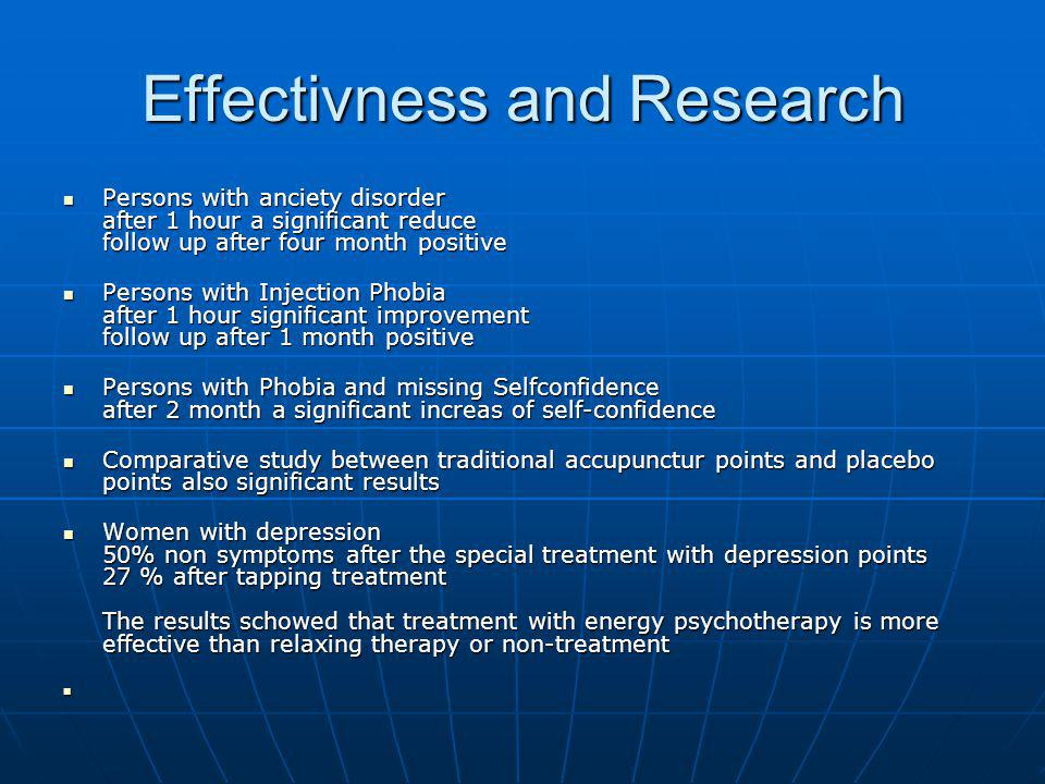 Effectivness and Research