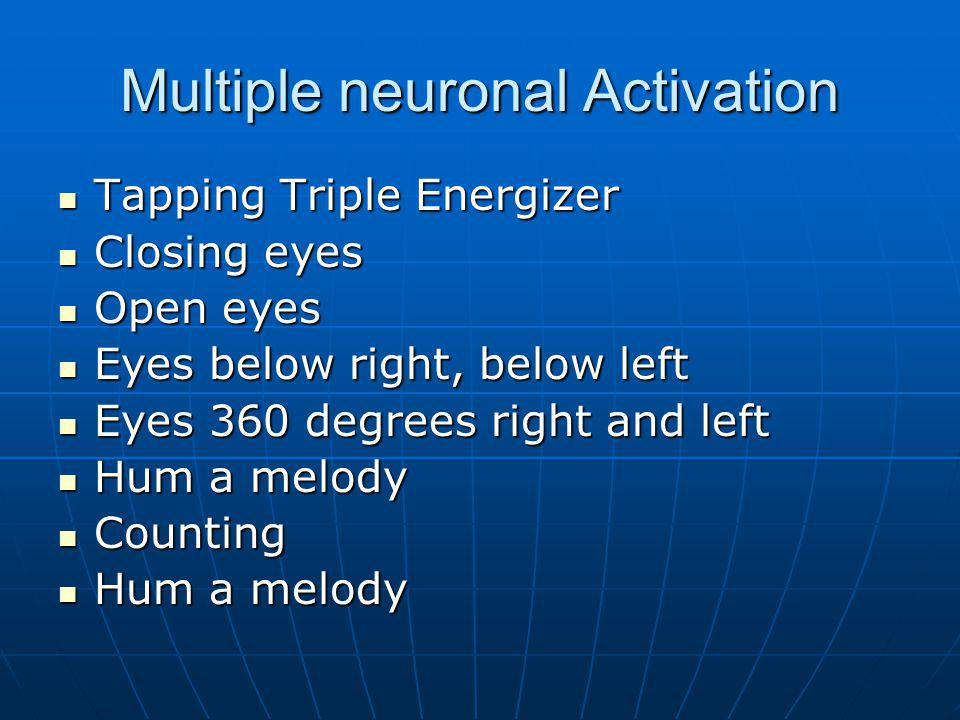 Multiple neuronal Activation