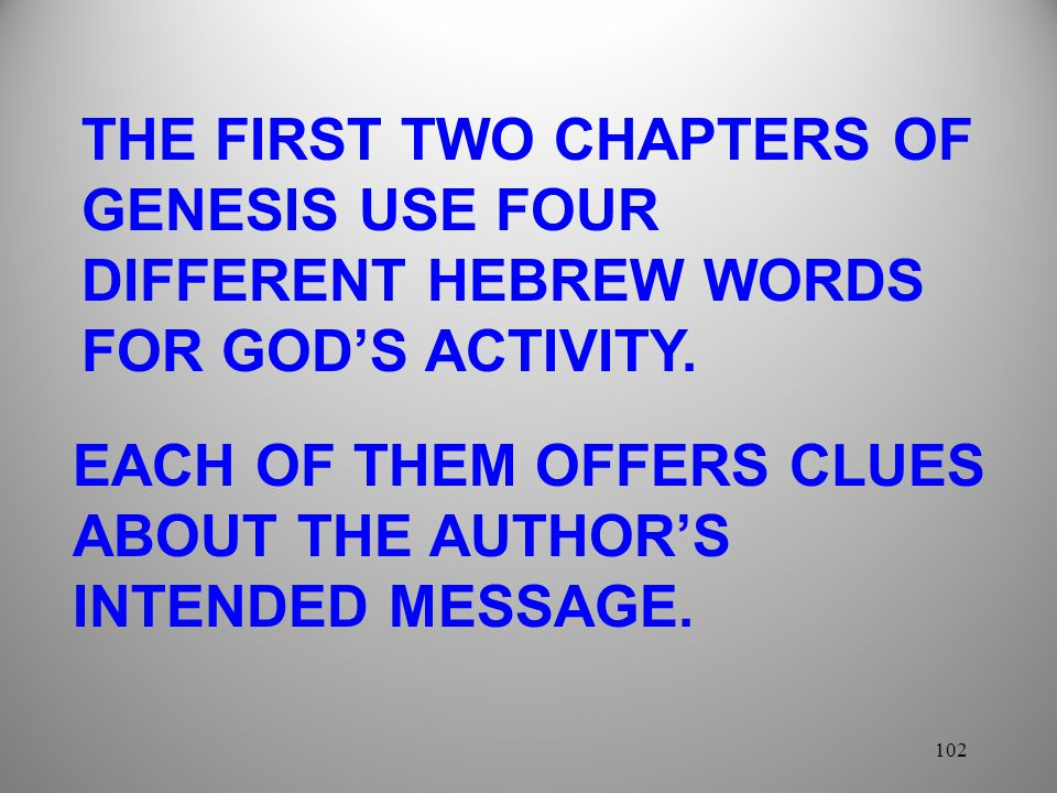 EACH OF THEM OFFERS CLUES ABOUT THE AUTHOR'S INTENDED MESSAGE.