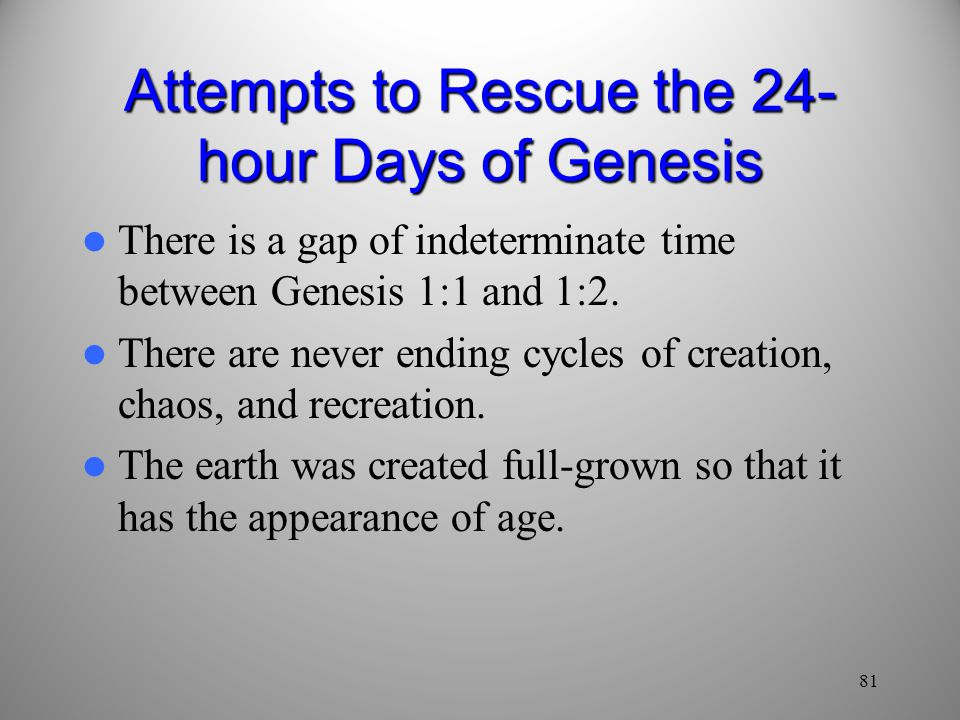 Attempts to Rescue the 24-hour Days of Genesis