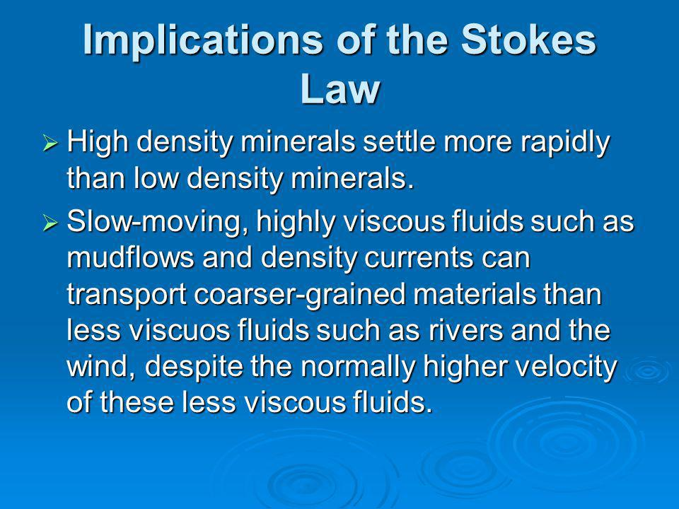 Implications of the Stokes Law