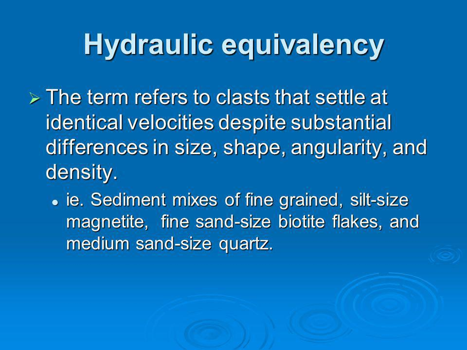 Hydraulic equivalency