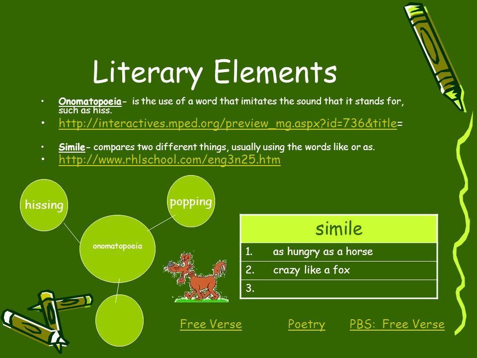 Literary Elements simile