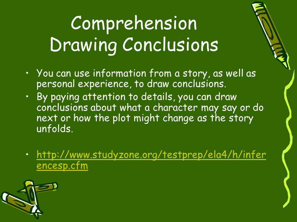 Comprehension Drawing Conclusions