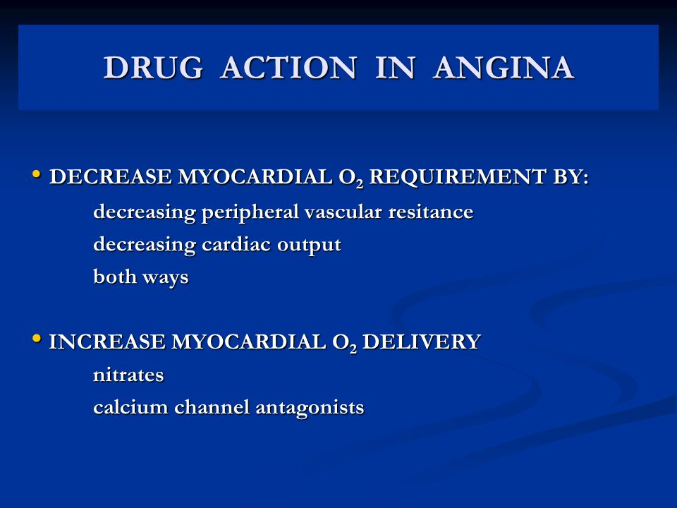 DRUG ACTION IN ANGINA DECREASE MYOCARDIAL O2 REQUIREMENT BY: