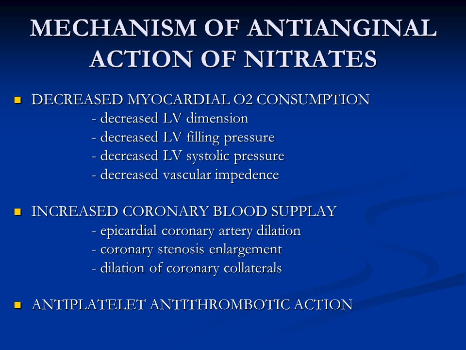 MECHANISM OF ANTIANGINAL ACTION OF NITRATES